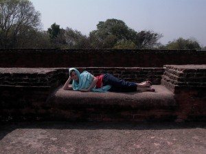 Beds where monks used to sleep
