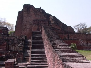 Nalanda - Stairs built over 3 different dynasties - that's a long time